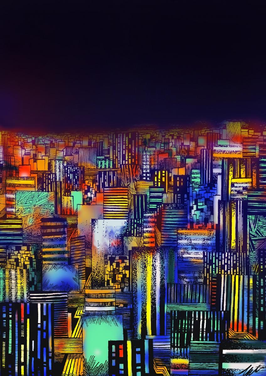 <em>Densità demografica</em>, elaborazione digitale di Gabriele Artusio