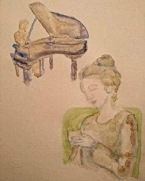 Disegno all'acquerello di Letizia M. Costanzo