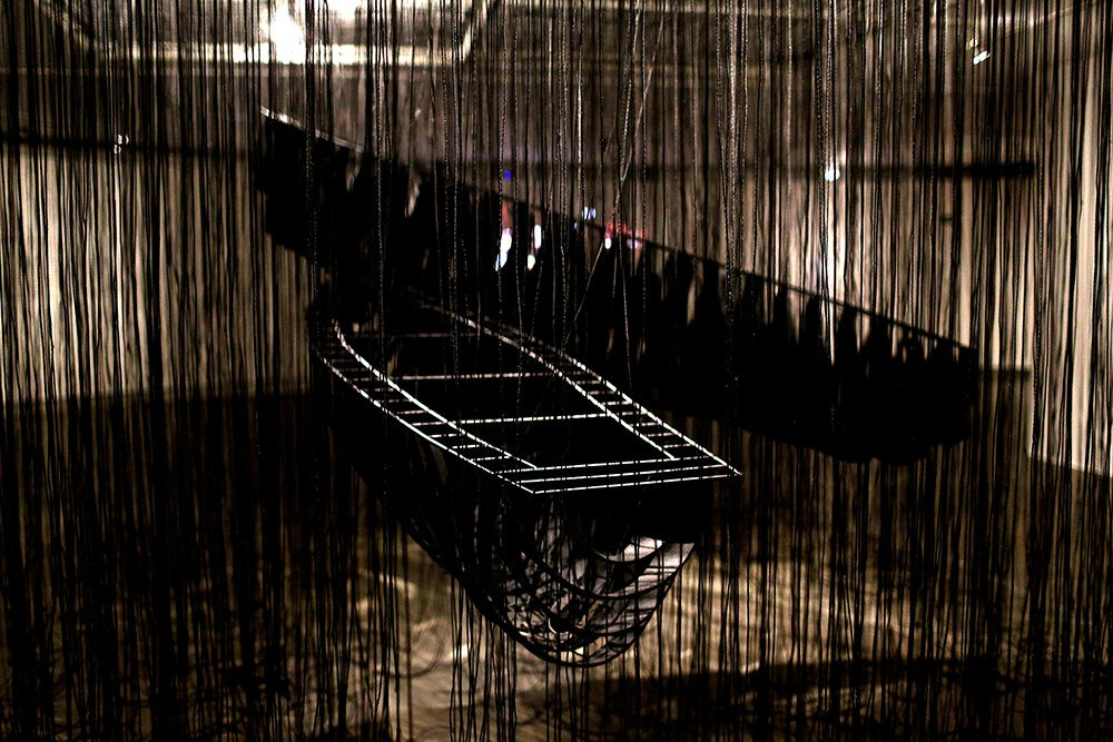 Chiharu Shiota, Two boats, one direction 2020
