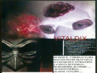 Art and quarantine, black mask and white mask, illustration by italian artist Vitaldo Conte