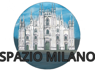 Lombardia coronavirus sulla rubrica Spazio Milano di Fyinpaper, logo con scritta e disegno del Duomo di Milano
