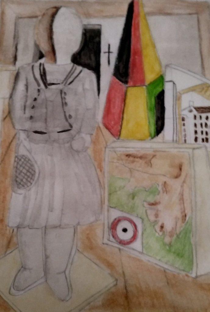 Dada art, work by school pupils, Bonazzi Miguel