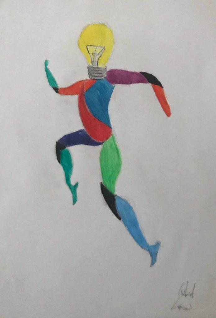Dada, lavoro artistico realizzato da studenti istituto comprensivo Segrate, Lanzoni Gabriel