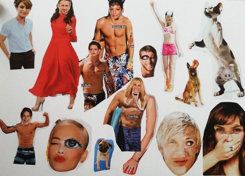 Dada art, work by school pupils, Sbrogio Bianca