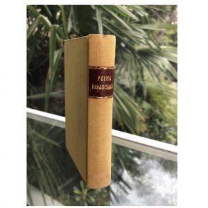 Il libro di D'Annunzio, Poema paradisiaco, autentica opera d'arte della letteratura italiana, visto dal dorso.