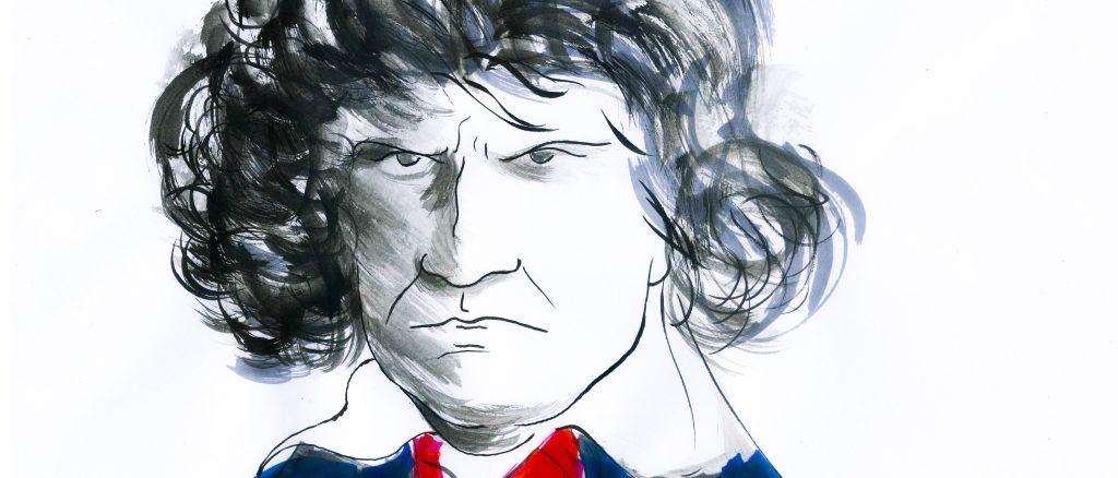 Beethoven 250 anni dalla nascita, disegno di Gabriele Artusio