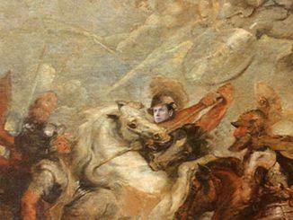 Recovery fund Italia: fotomontaggio del premier Conte a cavallo nel dipinto di Rubens battaglia d'Ivry
