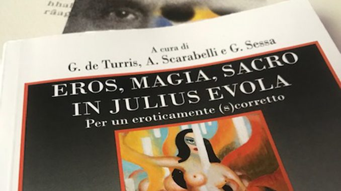 Cover of the conference proceedings on Julius Evola Eros, magic and the sacred in Julius Evola