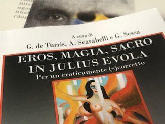 Copertina di atti di convegno su Julius Evola Eros, magia, sacro in Julius Evola