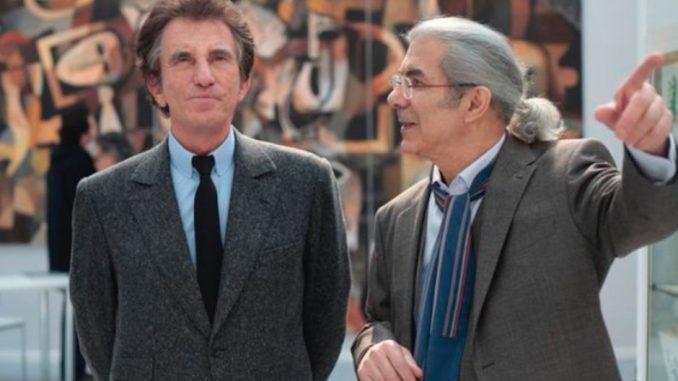 Arab World Institute in Paris, 2 men, Jack Lang and Claude Lemand