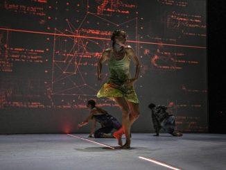 Pontus Lidberg, his ballet Centaur, one ballerina and two male dancers
