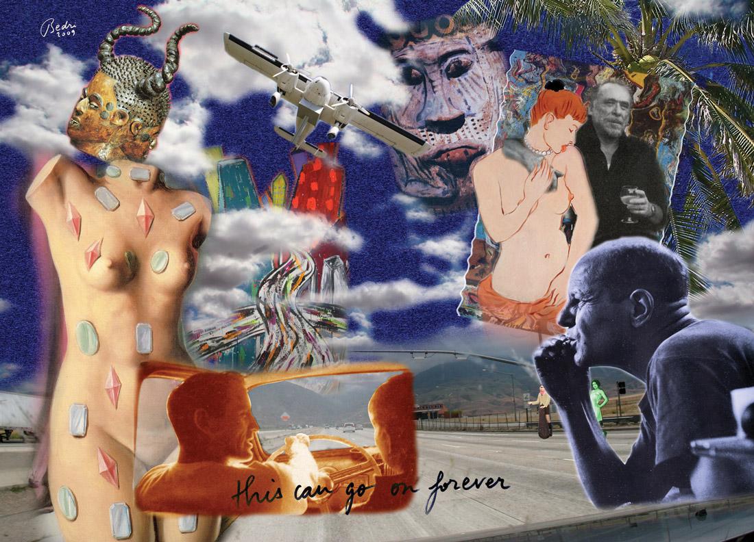 L'immagine mostra l'opera dell'artista turco Bedri Baykam expressive beat. 4D, 180x240 cm,2009