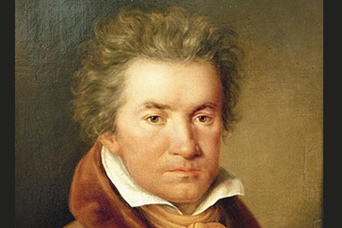 Beethoven 250 nascita, ritratto mezzobusto del giovane musicista, negli anni di crisi.