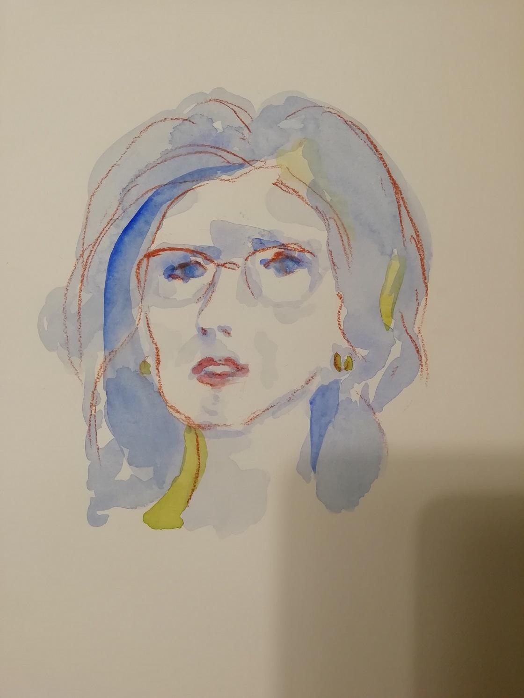 Letizia M. Costanzo, Ritratti, è un'opera che mostra il volto di una donna.