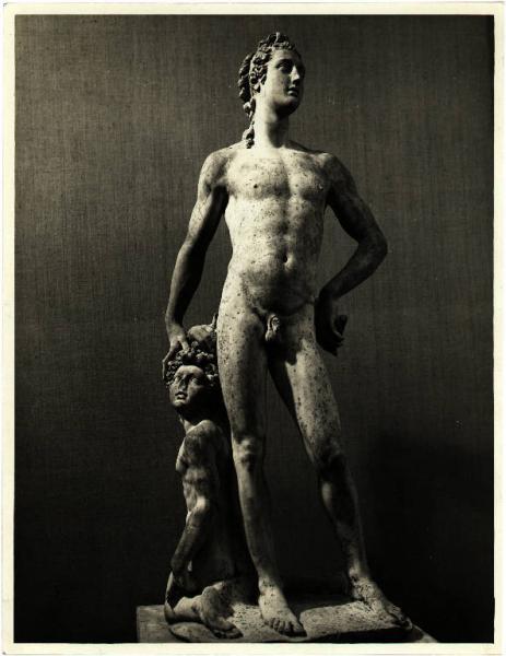 the color photo shows the sculpture of Apollo by Benvenuto Cellini